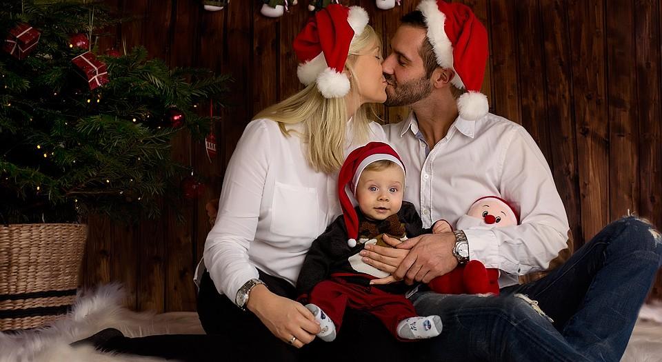 Erstes Weihnachten mit Baby - Studio Bergheim